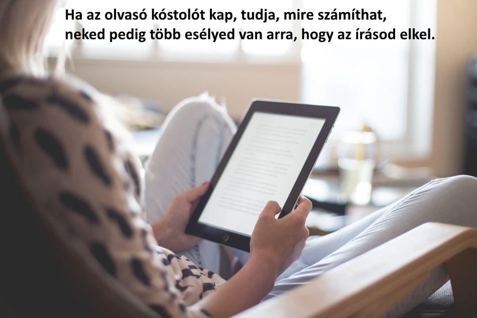 Ha az olvasó kóstolót kap