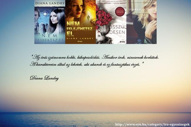Diana Landry az írás számomra hobbi, kikapcsolódás