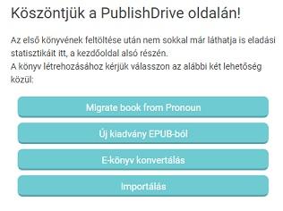 E-könyv kiadás a Publishdrive -on